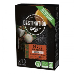 Kavove kapsule bio kava Peru 100 arabica pre Nespresso