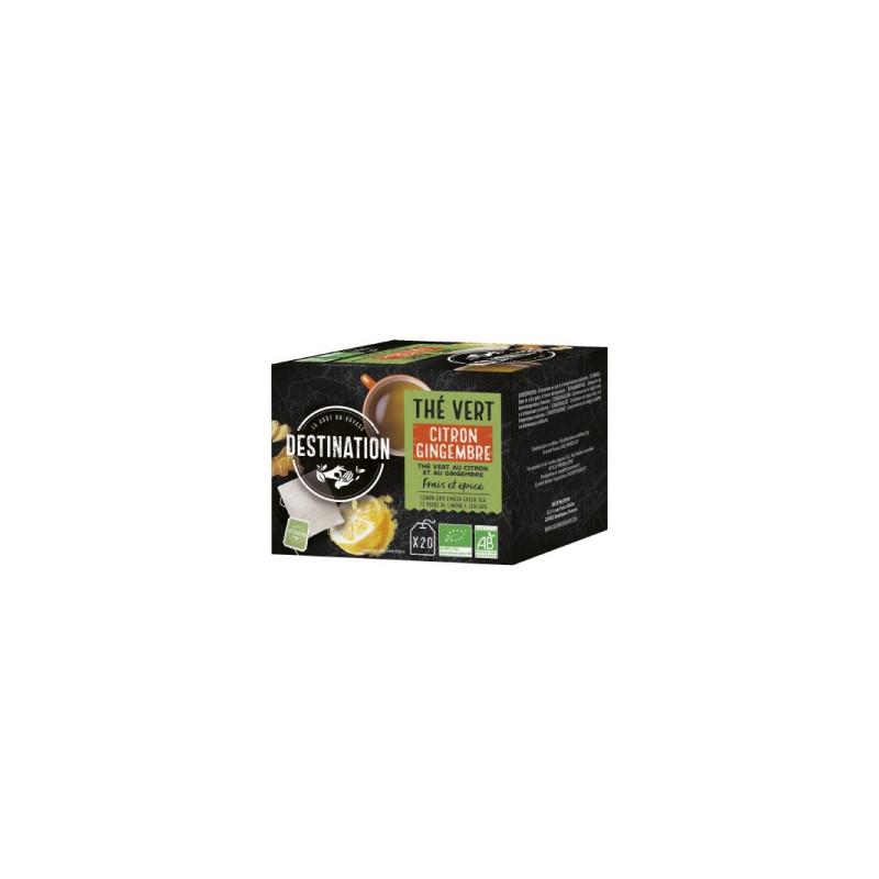 BIO čaj zelený zázvor citrón
