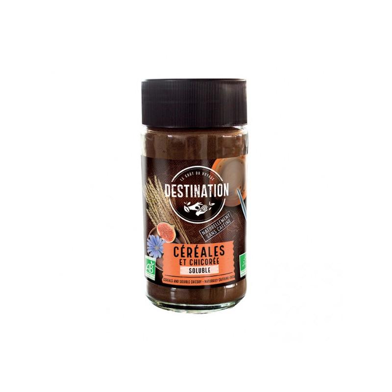 BIO cigorková káva so cerealím bez kofeínu instantná