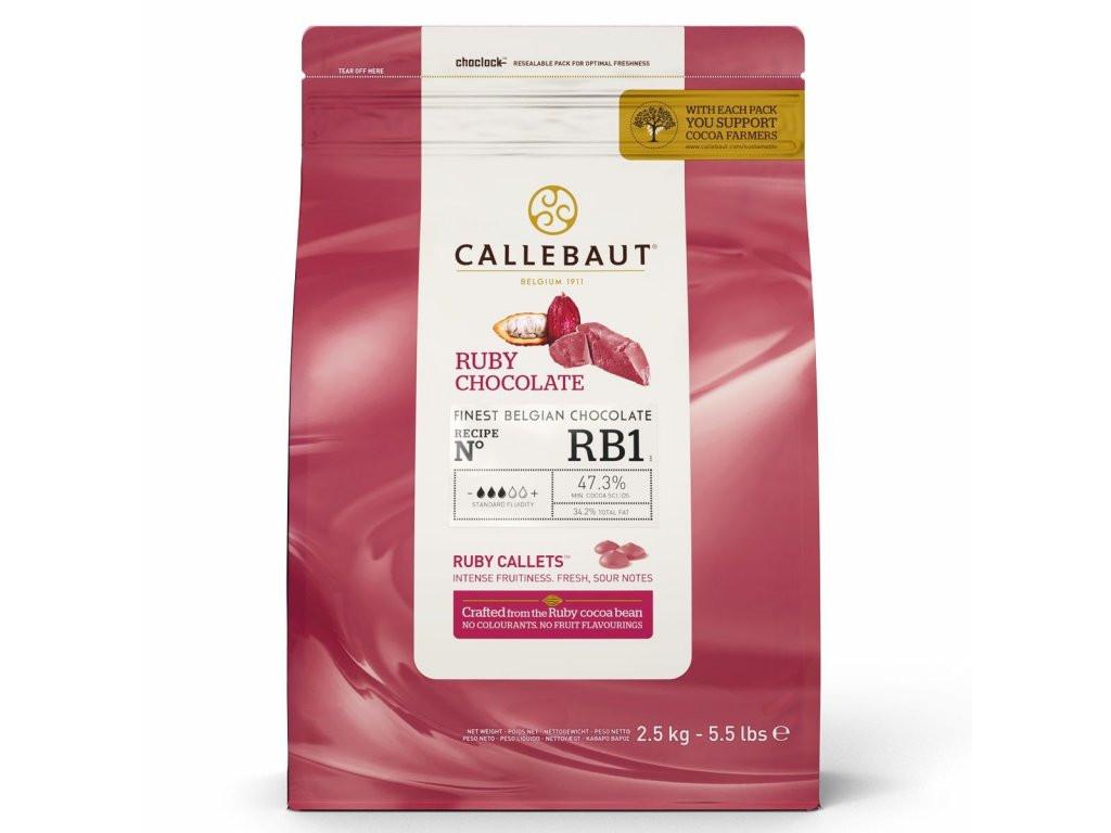 Ružová čokoláda Callebaut Čokoláda